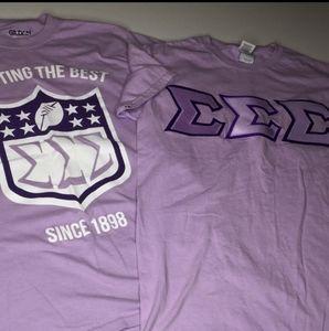 2 SIGMA SORORITY purple embroidered tshirt TSHIRTS